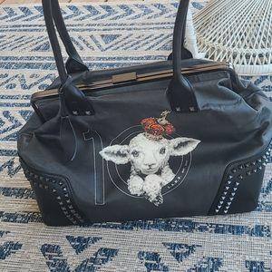 L.A.M.B signature black bag